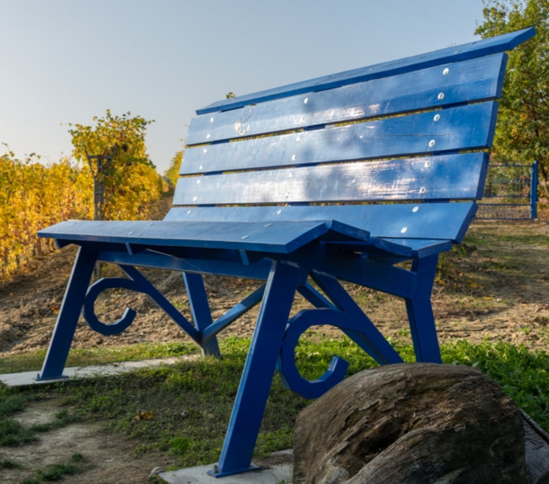 Una panchina blu per testimoniare l'importanza di entrambi i genitori in caso di separazione