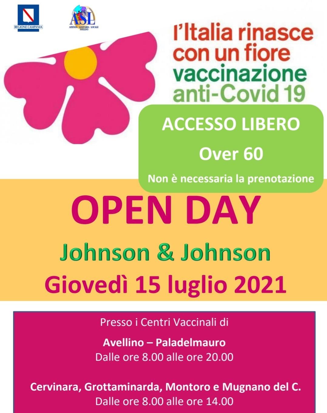 Open Day Johnson, giovedì 15 luglio. Accesso libero per gli over 60