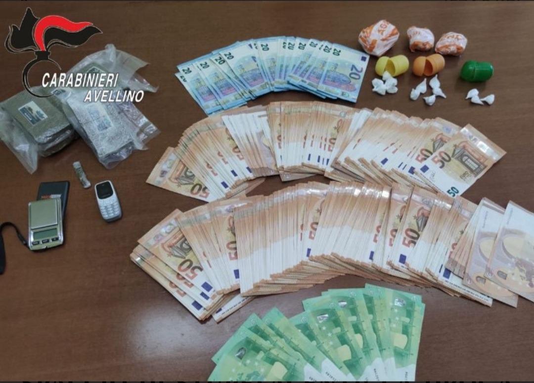 Sequestro un etto di cocaina e mezzo chilo hashish a Chiusano, in manette 35enne